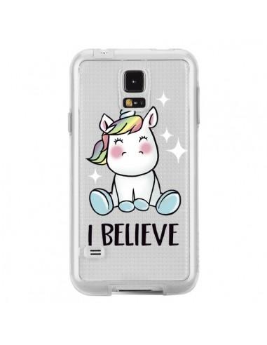 Coque Licorne I Believe Transparente pour Samsung Galaxy S5 - Maryline Cazenave