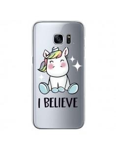 Coque Licorne I Believe Transparente pour Samsung Galaxy S7 - Maryline Cazenave