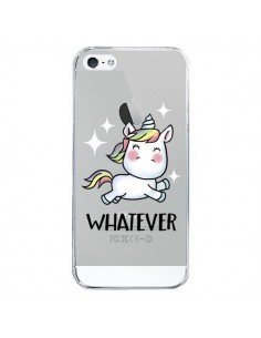 Coque Licorne Whatever Transparente pour iPhone 5/5S et SE - Maryline Cazenave