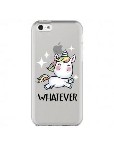 Coque iPhone 5C Licorne Whatever Transparente - Maryline Cazenave