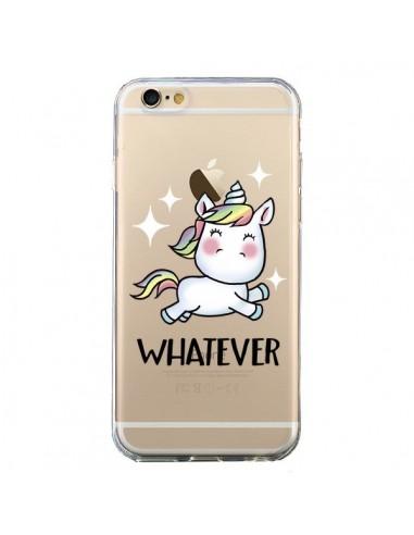 Coque iPhone 6 et 6S Licorne Whatever Transparente - Maryline Cazenave
