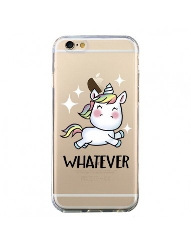 Coque Licorne Whatever Transparente pour iPhone 6 et 6S - Maryline Cazenave