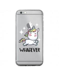 Coque Licorne Whatever Transparente pour iPhone 6 Plus et 6S Plus - Maryline Cazenave