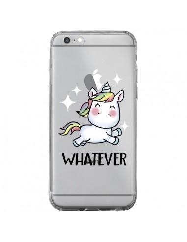 Coque iPhone 6 Plus et 6S Plus Licorne Whatever Transparente - Maryline Cazenave