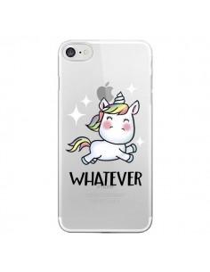 Coque Licorne Whatever Transparente pour iPhone 7 - Maryline Cazenave