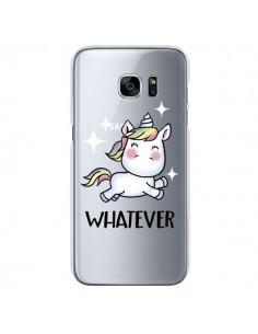 Coque Licorne Whatever Transparente pour Samsung Galaxy S7 - Maryline Cazenave