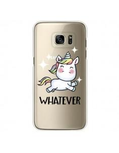 Coque Licorne Whatever Transparente pour Samsung Galaxy S7 Edge - Maryline Cazenave