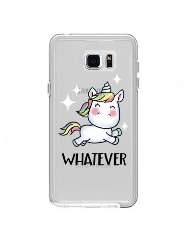 Coque Licorne Whatever Transparente pour Samsung Galaxy Note 5 - Maryline Cazenave
