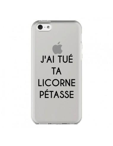 Coque Tué Licorne Pétasse Transparente pour iPhone 5C - Maryline Cazenave
