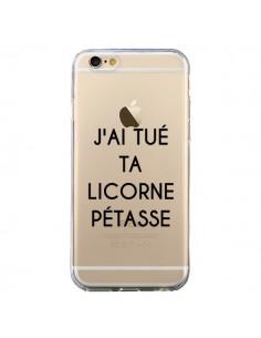 Coque Tué Licorne Pétasse Transparente pour iPhone 6 et 6S - Maryline Cazenave