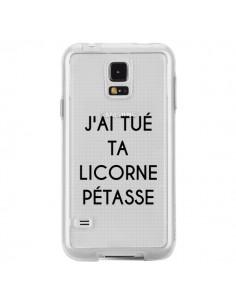 Coque Tué Licorne Pétasse Transparente pour Samsung Galaxy S5 - Maryline Cazenave