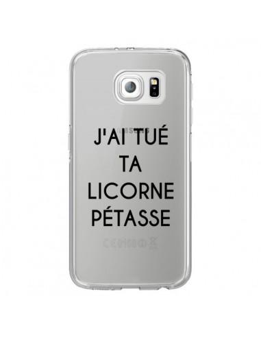 Coque Tué Licorne Pétasse Transparente pour Samsung Galaxy S6 Edge - Maryline Cazenave