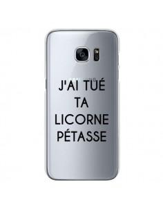 Coque Tué Licorne Pétasse Transparente pour Samsung Galaxy S7 - Maryline Cazenave
