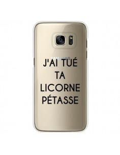 Coque Tué Licorne Pétasse Transparente pour Samsung Galaxy S7 Edge - Maryline Cazenave