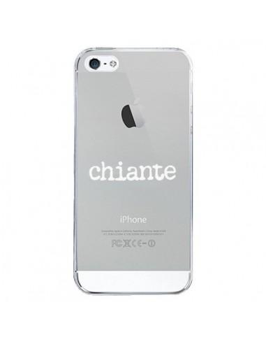 Coque iPhone 5/5S et SE Chiante Blanc Transparente - Maryline Cazenave