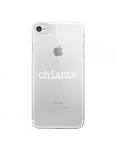 Coque iPhone 7 et 8 Chiante Blanc Transparente - Maryline Cazenave