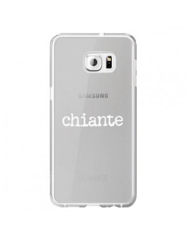 Coque Chiante Blanc Transparente pour Samsung Galaxy S6 Edge Plus - Maryline Cazenave