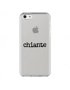 Coque iPhone 5C Chiante Noir Transparente - Maryline Cazenave