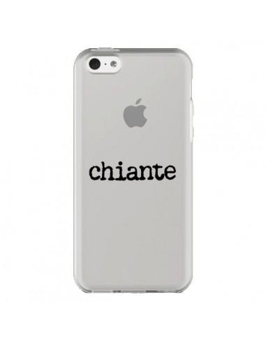 Coque Chiante Noir Transparente pour iPhone 5C - Maryline Cazenave