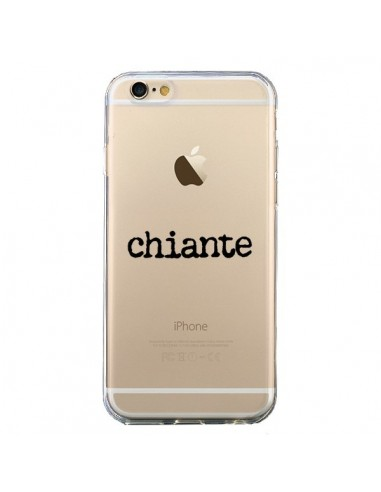 Coque iPhone 6 et 6S Chiante Noir Transparente - Maryline Cazenave