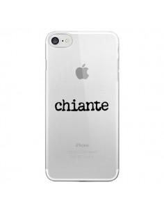 Coque Chiante Noir Transparente pour iPhone 7 - Maryline Cazenave