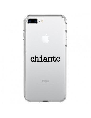 Coque iPhone 7 Plus et 8 Plus Chiante Noir Transparente - Maryline Cazenave