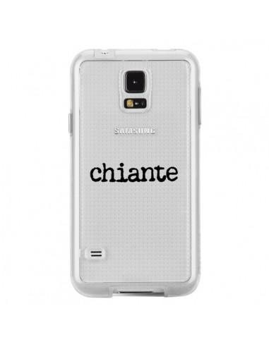 Coque Chiante Noir Transparente pour Samsung Galaxy S5 - Maryline Cazenave
