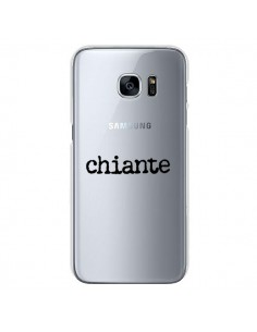 Coque Chiante Noir Transparente pour Samsung Galaxy S7 - Maryline Cazenave