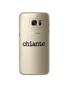 Coque Chiante Noir Transparente pour Samsung Galaxy S7 Edge - Maryline Cazenave
