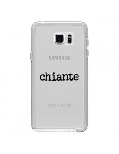 Coque Chiante Noir Transparente pour Samsung Galaxy Note 5 - Maryline Cazenave