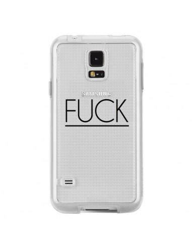Coque Fuck Transparente pour Samsung...