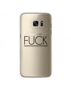 Coque Fuck Transparente pour Samsung Galaxy S7 Edge - Maryline Cazenave