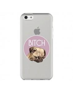 Coque iPhone 5C Bulldog Bitch Transparente - Maryline Cazenave