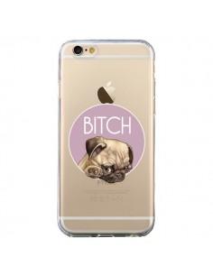 Coque Bulldog Bitch Transparente pour iPhone 6 et 6S - Maryline Cazenave