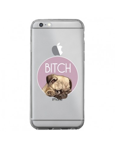 Coque iPhone 6 Plus et 6S Plus Bulldog Bitch Transparente - Maryline Cazenave