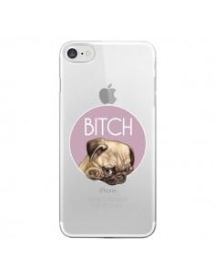 Coque Bulldog Bitch Transparente pour iPhone 7 - Maryline Cazenave