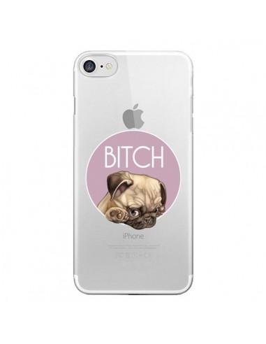 Coque iPhone 7 et 8 Bulldog Bitch Transparente - Maryline Cazenave