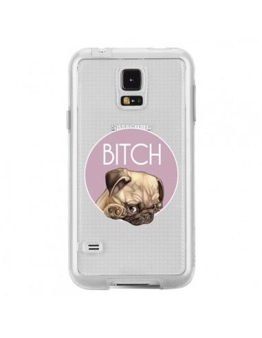 Coque Bulldog Bitch Transparente pour Samsung Galaxy S5 - Maryline Cazenave
