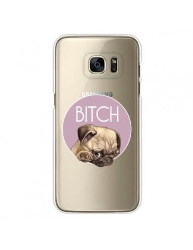 Coque Bulldog Bitch Transparente pour Samsung Galaxy S7 Edge - Maryline Cazenave