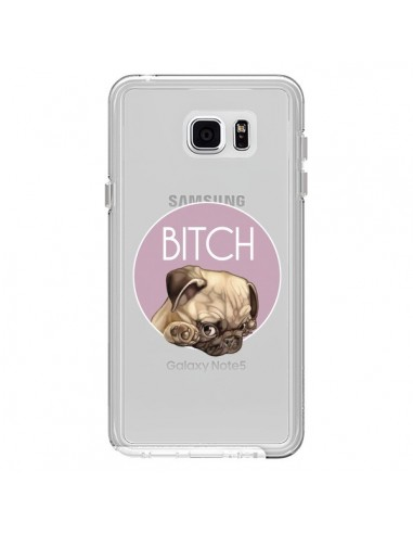 Coque Bulldog Bitch Transparente pour Samsung Galaxy Note 5 - Maryline Cazenave