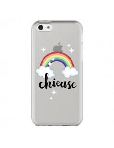 Coque iPhone 5C Chieuse Arc En Ciel Transparente - Maryline Cazenave