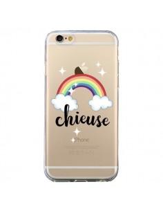 Coque Chieuse Arc En Ciel Transparente pour iPhone 6 et 6S - Maryline Cazenave