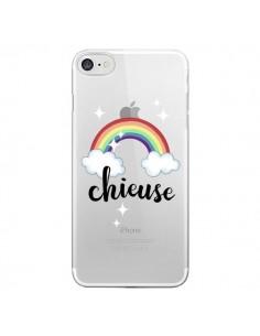 Coque Chieuse Arc En Ciel Transparente pour iPhone 7 - Maryline Cazenave