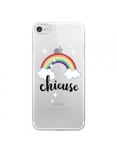 Coque iPhone 7 et 8 Chieuse Arc En Ciel Transparente - Maryline Cazenave