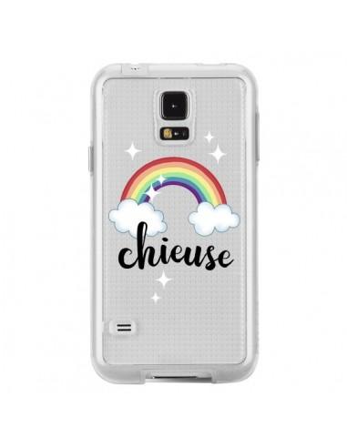 Coque Chieuse Arc En Ciel Transparente pour Samsung Galaxy S5 - Maryline Cazenave