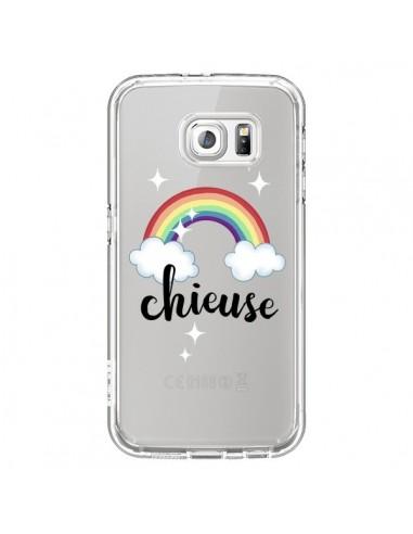 Coque Chieuse Arc En Ciel Transparente pour Samsung Galaxy S6 - Maryline Cazenave