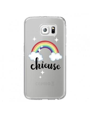 Coque Chieuse Arc En Ciel Transparente pour Samsung Galaxy S6 Edge - Maryline Cazenave