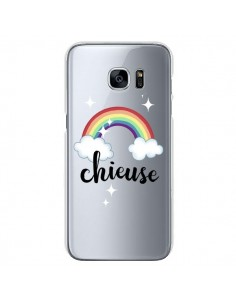 Coque Chieuse Arc En Ciel Transparente pour Samsung Galaxy S7 - Maryline Cazenave
