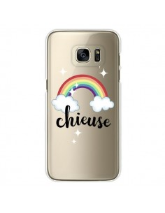 Coque Chieuse Arc En Ciel Transparente pour Samsung Galaxy S7 Edge - Maryline Cazenave