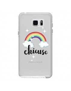 Coque Chieuse Arc En Ciel Transparente pour Samsung Galaxy Note 5 - Maryline Cazenave